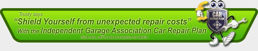 Trusty says: Shield Yourself from unexpected repair costs With the Independent Garage Association Car Repair Plan