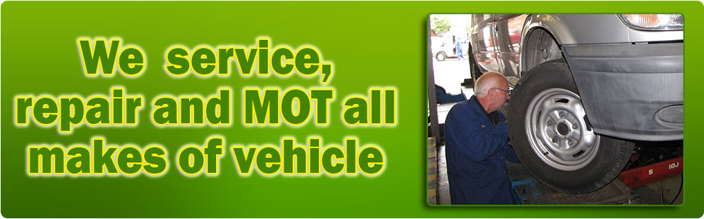 We service, repair and MOT all makes of car